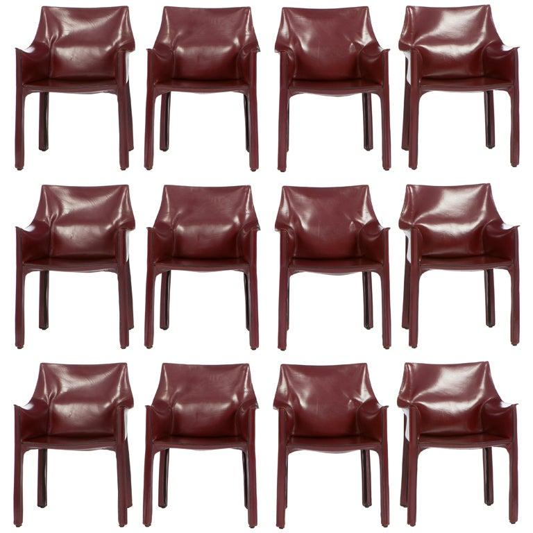 12 Mario Bellini Cab Armchairs For Cassina At 1stdibs
