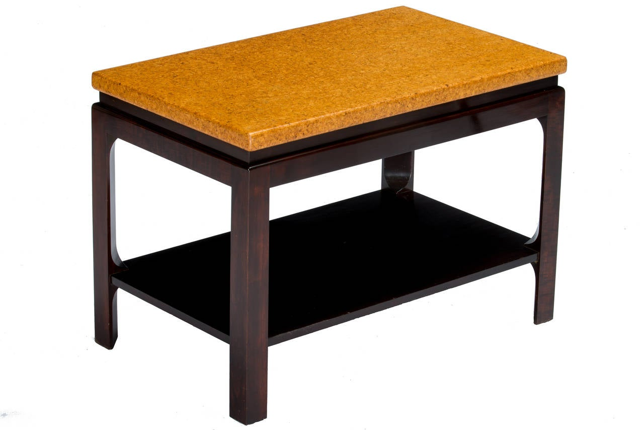 Mid-20th Century Paul Frankl Cork Top End Tables For Sale