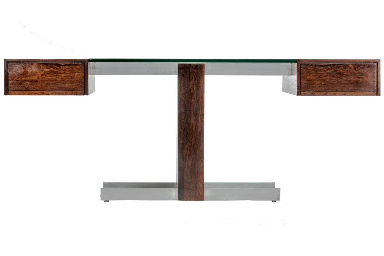 Rosewood and Glass Desk by Vladimir Kagan 2