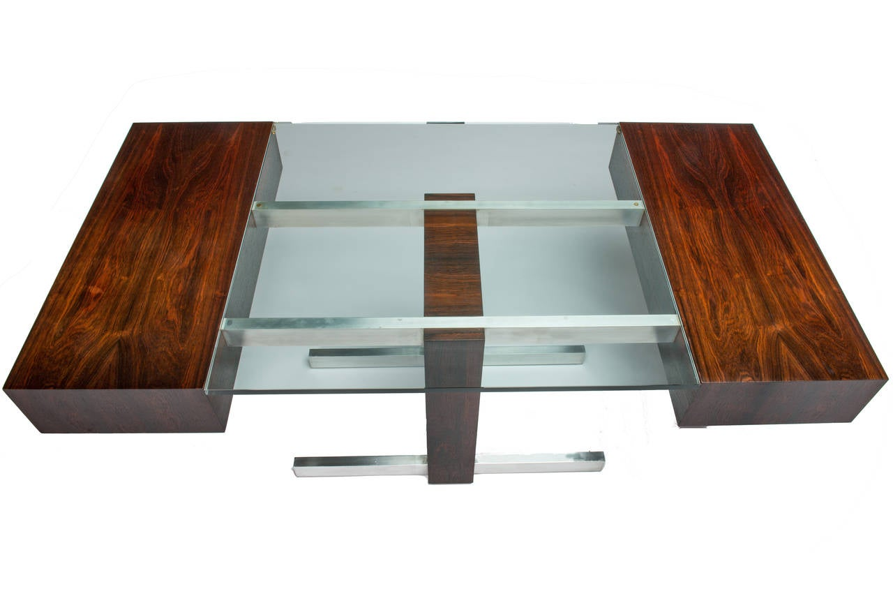 Rosewood and Glass Desk by Vladimir Kagan 4