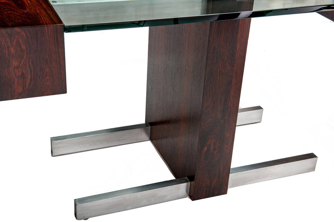 Rosewood and Glass Desk by Vladimir Kagan 5