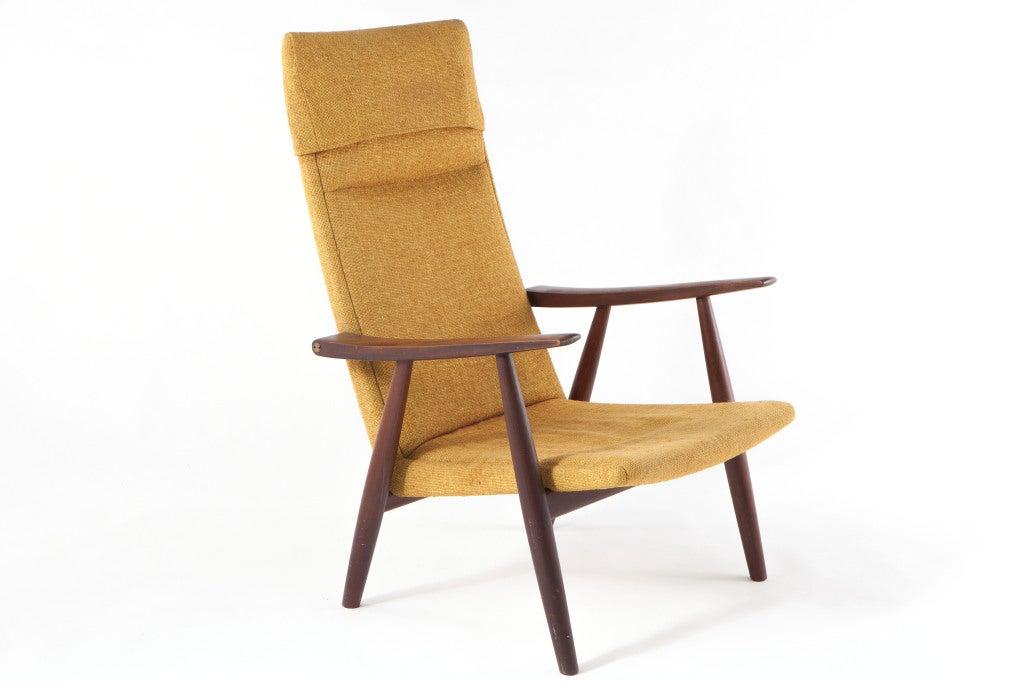 Hans Wegner High Back Lounge Chair At 1stdibs