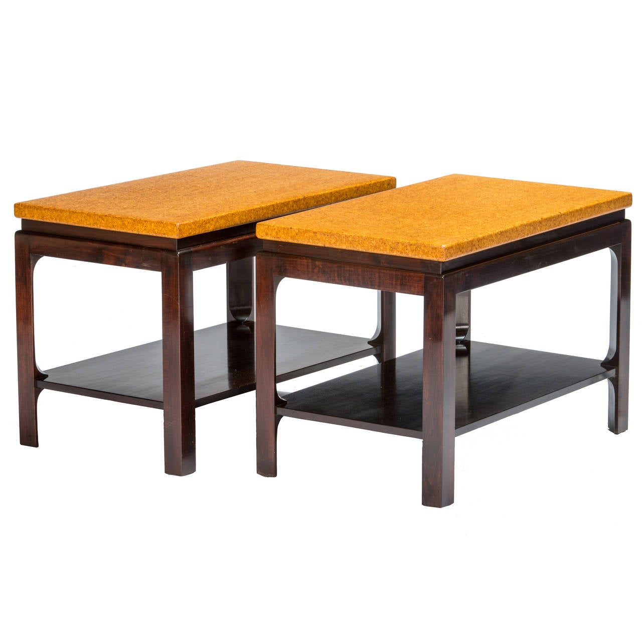 Paul Frankl Cork Top End Tables For Sale