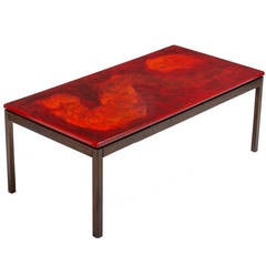 Enameled Top Coffee Table by P. Torneman and David Rosen for Nordiska Kompaniet