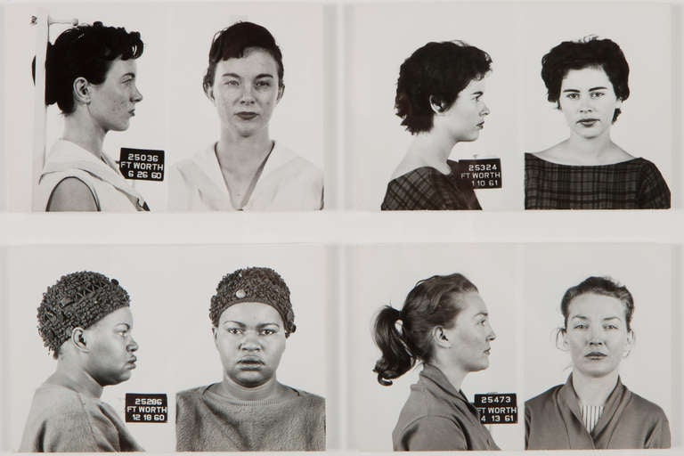 Large Collection Of Vintage Mugshots Women At 1stdibs