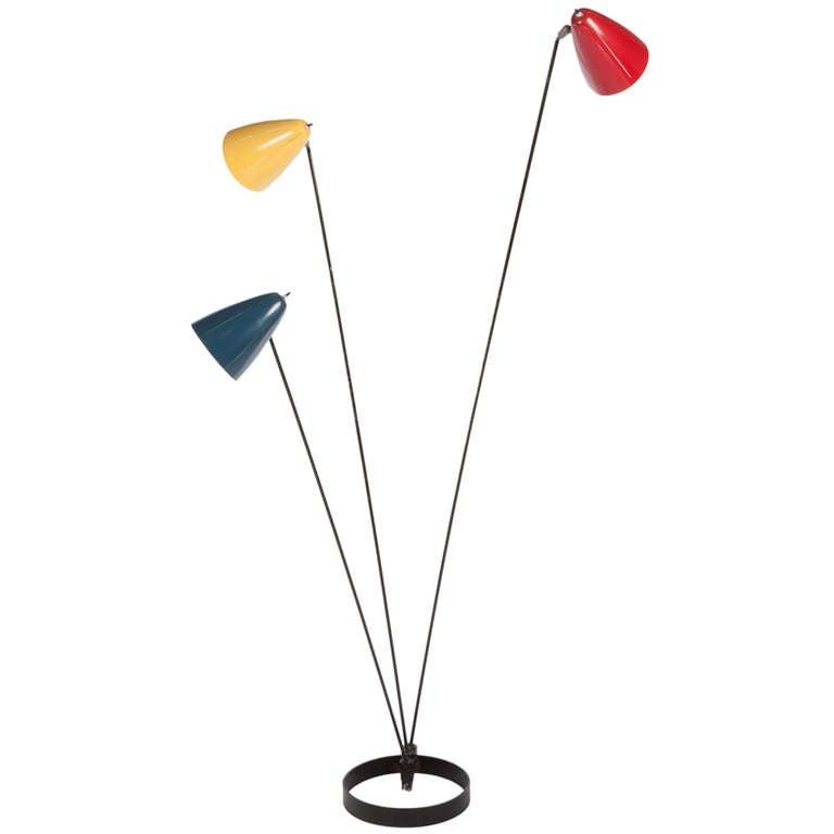 ben seibel floor lamp for raymor at 1stdibs