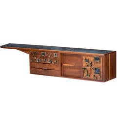 Phillip Lloyd Powell and Paul Evans Wall-Hanging Cabinet