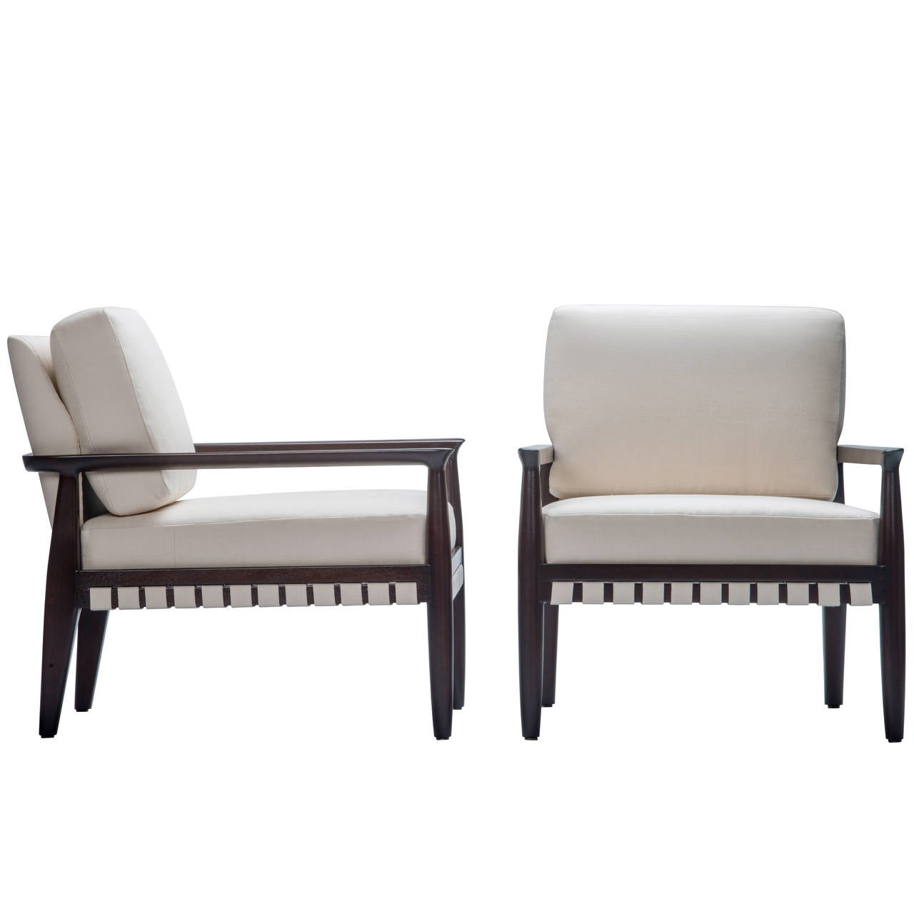 Pair of Tommi Parzinger Lounge Chairs for Charak Modern