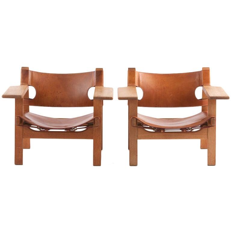 "Pr. Borge Mogensen "" Spanish"" chairs"