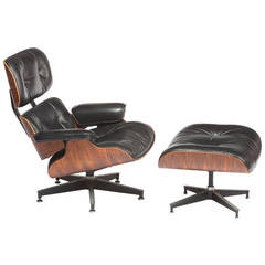 Eames Rosewood  670/671 Lounge Chair and Ottoman