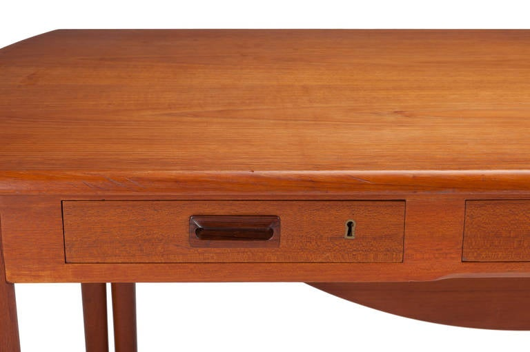 Desk by A. Bender Madsen and Ejner Larsen for Willy Beck Cabinetmaker For Sale 2