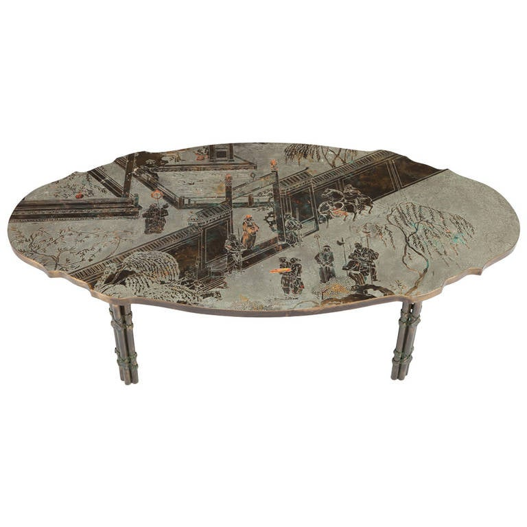 """Philip and Kelvin LaVerne, """"Tang Boucher"""" Coffee Table"""
