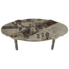 "Philip and Kelvin LaVerne, ""Tang Boucher"" Coffee Table"
