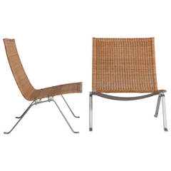Pair of Poul Kjaerholm PK-22 Chairs by E. Kold Christensen
