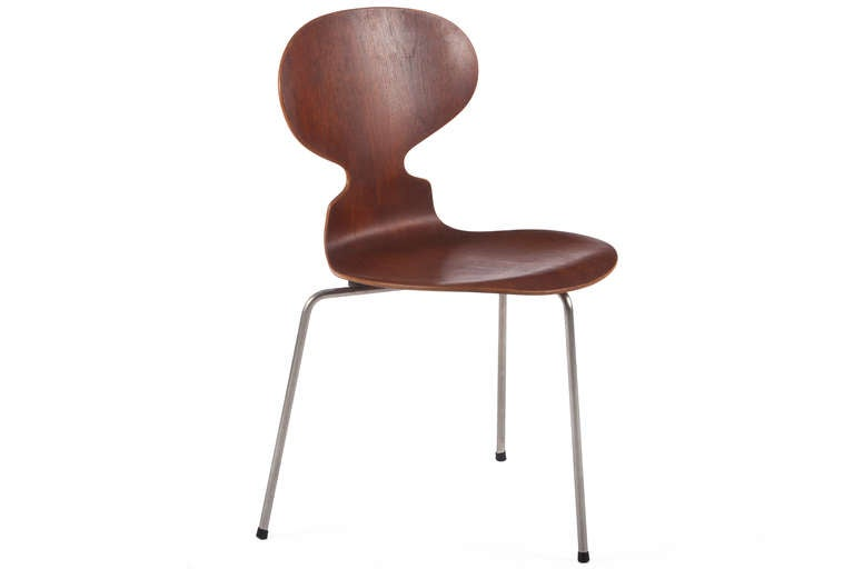 6 early arne jacobsen 3 legged ant chairs at 1stdibs. Black Bedroom Furniture Sets. Home Design Ideas