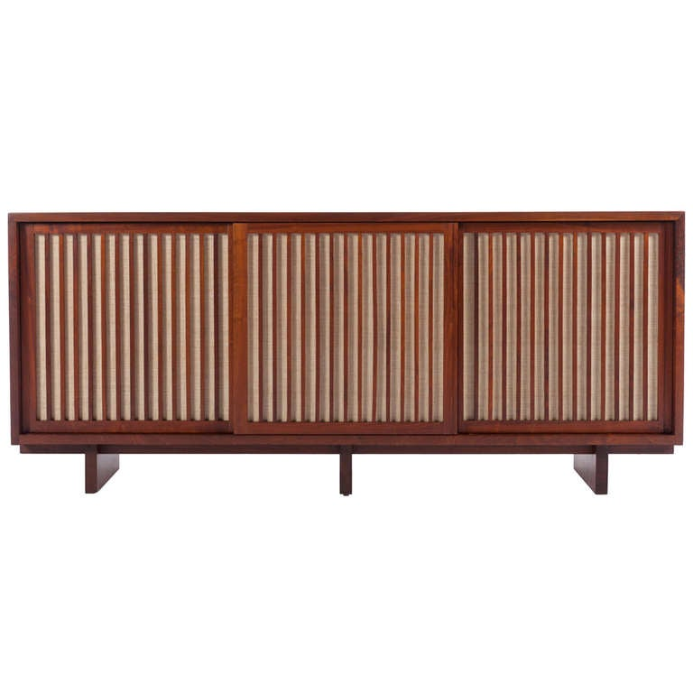 Triple Sliding Door Cabinet By George Nakashima At 1stdibs