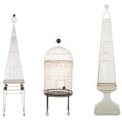 Three Large Birdcages By Frederick Weinberg