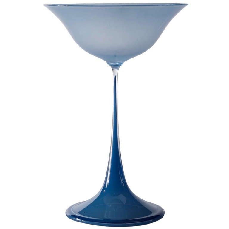 """Nil Landberg """"Tulip"""" Vase For Orrefors"""