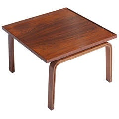Jacobsen Rosewood Table or Stool from St. Catherine's College
