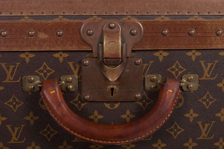 Pair Of Louis Vuitton Vintage Hard Sided Suitcases 5