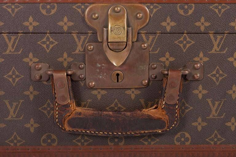 Pair Of Louis Vuitton Vintage Hard Sided Suitcases 7