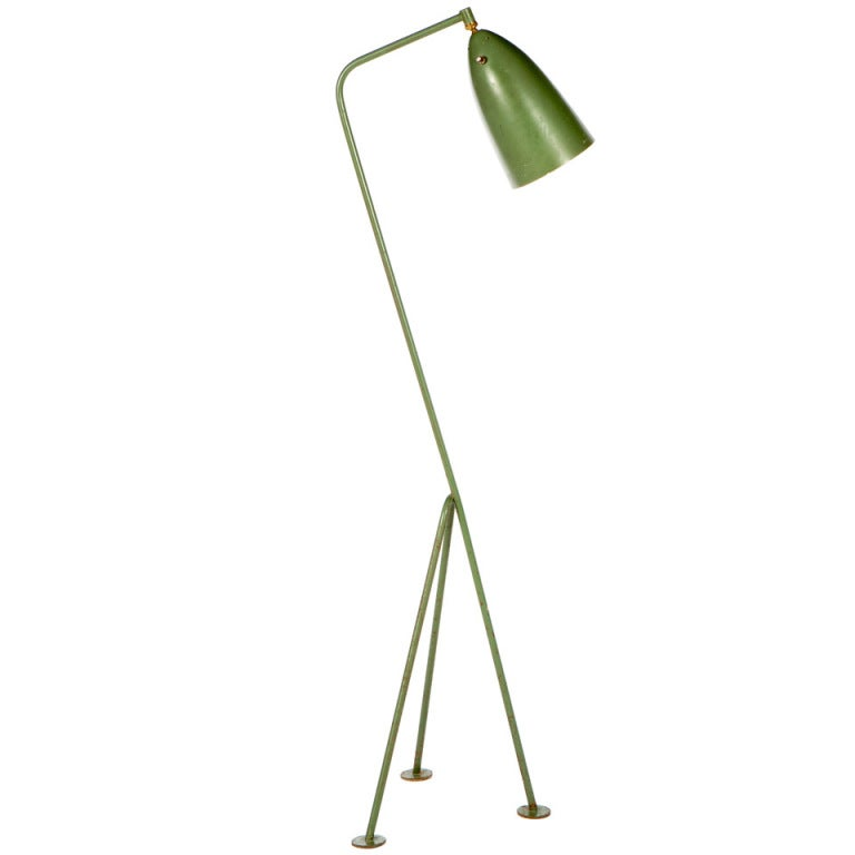 greta grossman grasshopper floor lamp at 1stdibs. Black Bedroom Furniture Sets. Home Design Ideas
