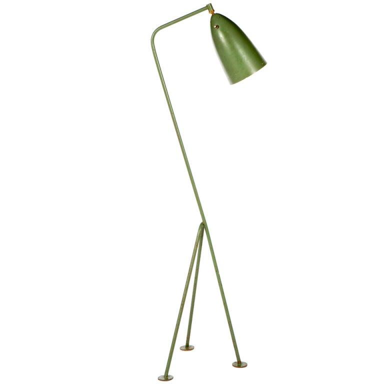 greta grossman grasshopper floor lamp at 1stdibs. Black Bedroom Furniture Sets. Home Design Ideas