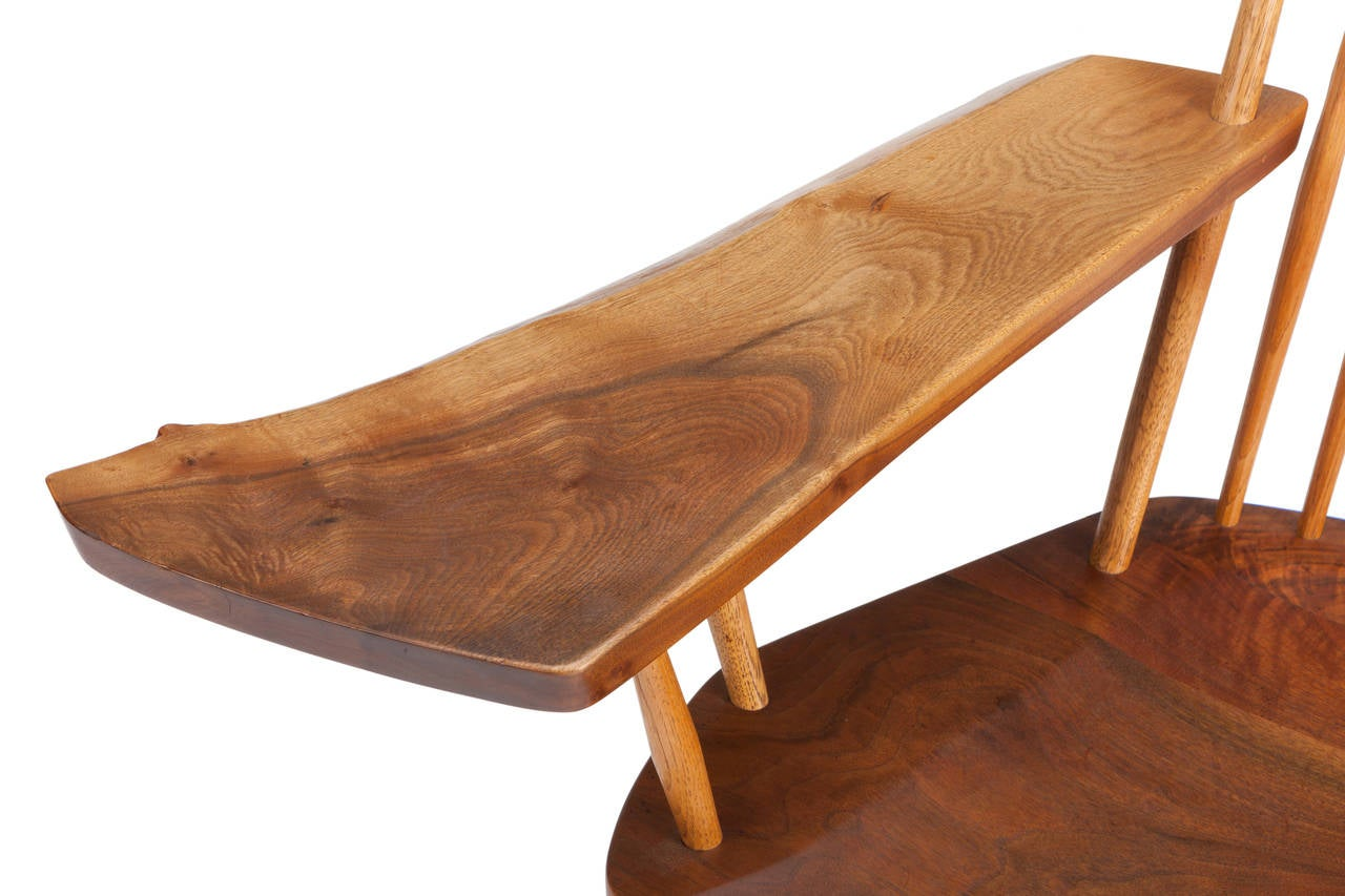 Wonderful image of Rocking Chair with Free Edge Arm by George Nakashima at 1stdibs with #AC521F color and 1280x853 pixels