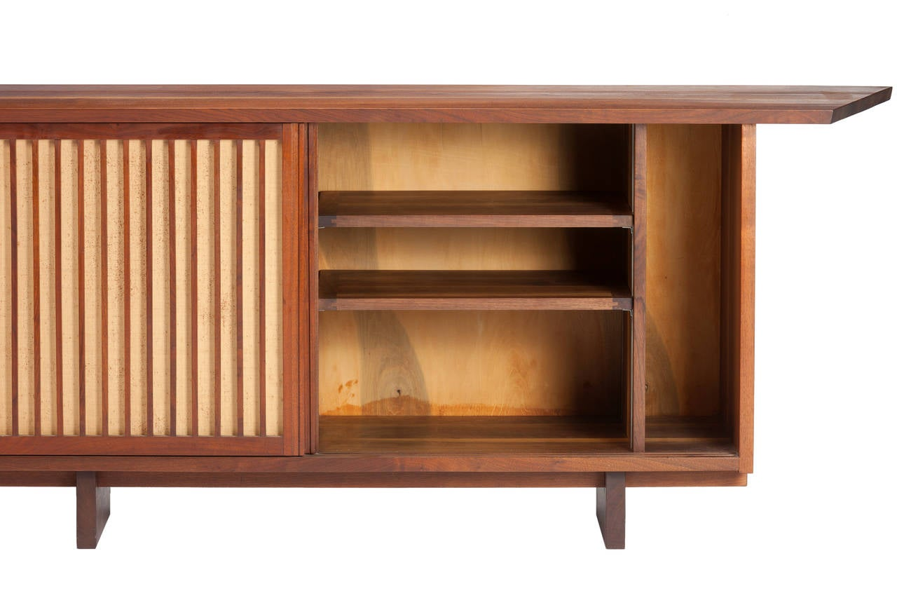 George Nakashima 10ft Triple Sliding Door Cabinet 1959 At 1stdibs