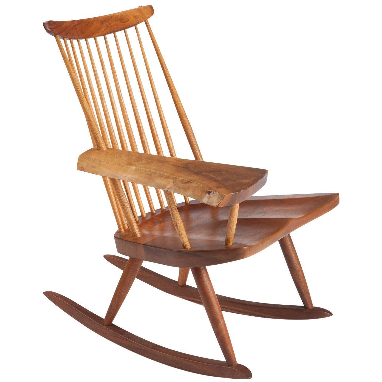 Wonderful image of Rocking Chair with Free Edge Arm by George Nakashima at 1stdibs with #AA5121 color and 1280x1280 pixels