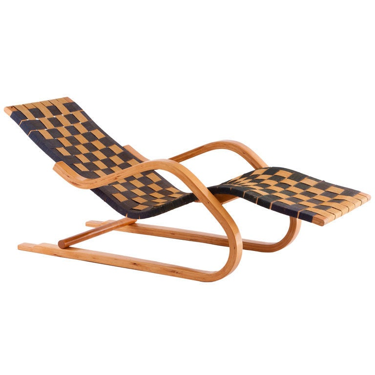 early alvar aalto cantilevered chaise lounge at 1stdibs