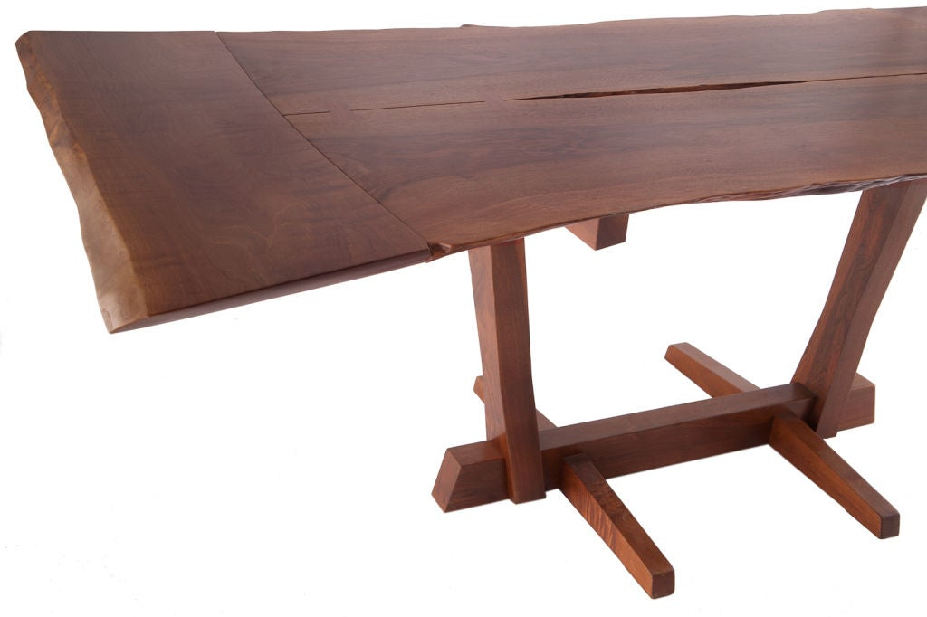 Mid-20th Century George Nakashima Persian Walnut Conoid Dining Table For Sale