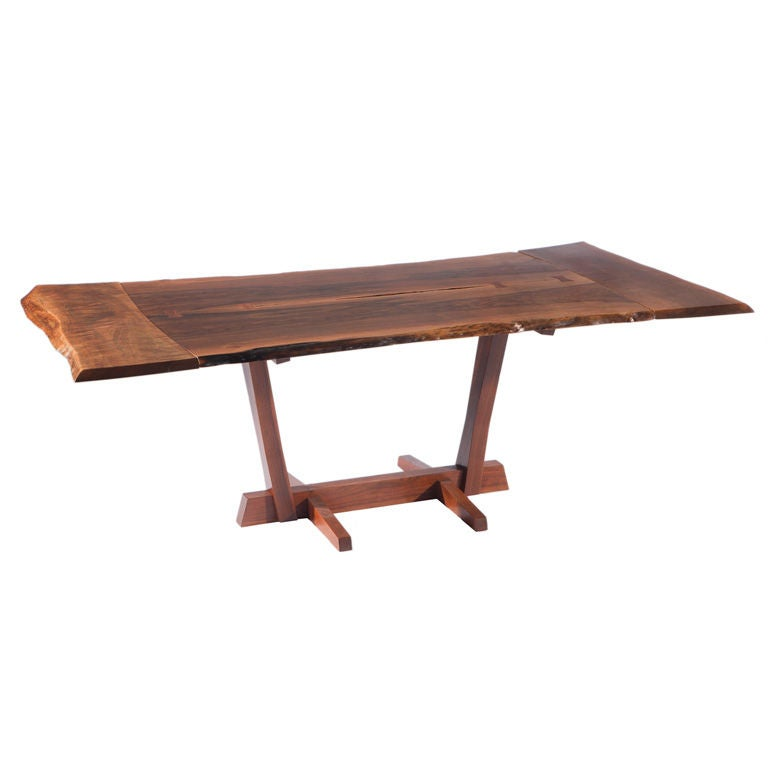 George Nakashima Persian Walnut Conoid Dining Table 1