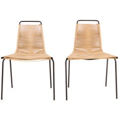 Pair of Poul Kjaerholm pk 1's Chairs, E. Kold Christensen