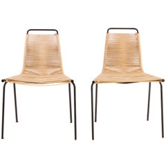 Pair of Poul Kjaerholm PK1 Chairs, E. Kold Christensen