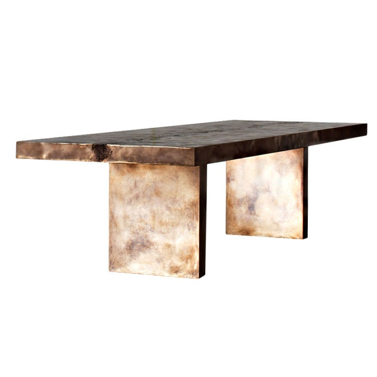 Bronze stingray backbone dining table at stdibs