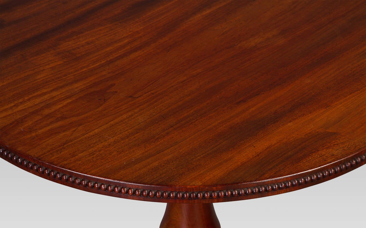 English Fine Gillows George IV Goncalo Alves Tripod Table For Sale