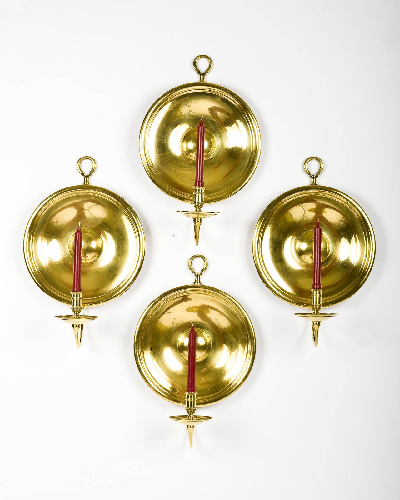 Pair of Brass Candle Sconces For Sale at 1stdibs