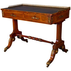 Fine Regency Writing Table Attributed to John Mclean