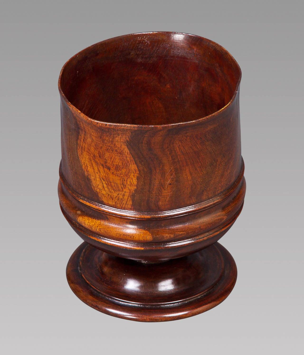 Charles II Turned Lignum Vitae Wassail Bowl 3