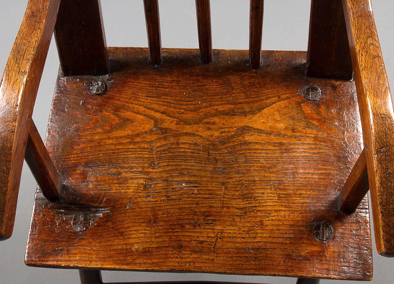 Late 18th Century Primitive Ash Armchair 3