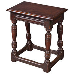 Charles I Oak Joint Stool