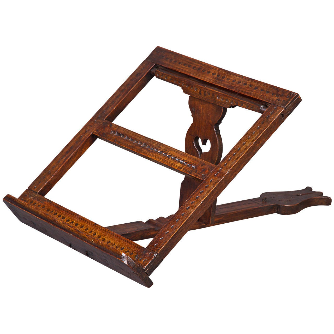 18th Century Fruitwood Folding Adjustable Bookrest For Sale