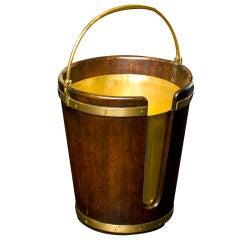 George III Mahogany Plate Bucket