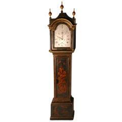George III Blue Japanned Long Case Clock by Thomas Reynolds