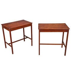 Fine Pair of Late 18th Century George III Mahogany Tables