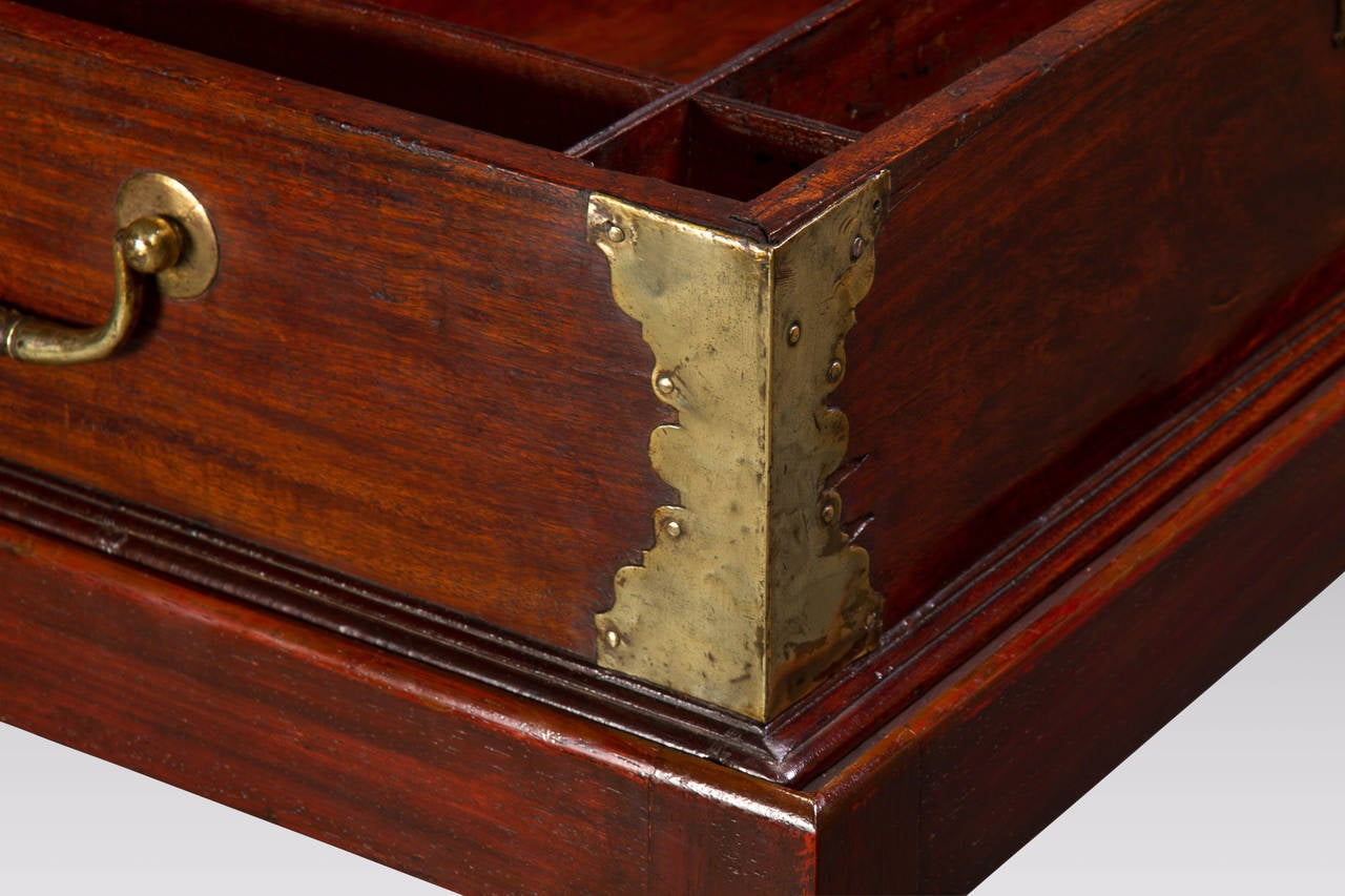Anglo-Chinese Padouk and Brass Mounted Scholar's Writing Box 5