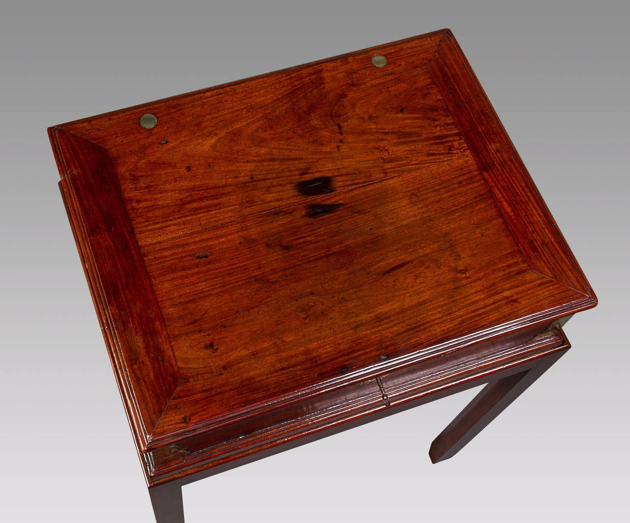 Anglo-Chinese Padouk and Brass Mounted Scholar's Writing Box 7