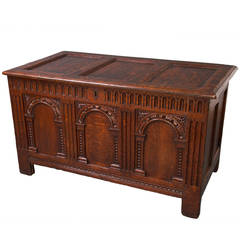 Elizabeth I Carved Oak Coffer