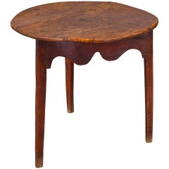 Fine 18th Century Elm and Oak Cricket Table